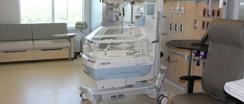 One of the Neonatal Intensive Care Unit (NICU) beds in the new Jim Pattison Children's Hospital.